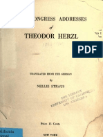 Herzl's Congress Addresses