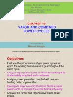 Presentación Cap 10 Ciclos de Potencia de Vapor