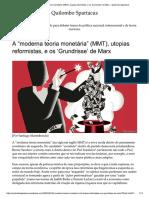 "A ""moderna teoria monetária"" (MMT), uto...undrisse' de Marx – Quilombo Spartacus"
