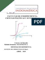1 TAREA    SISTEMAS DE REFERENCIA  mayo 2020 DR. GERMÀN  FIALLOS