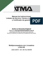 Manual Atma LP8313E