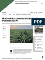 Firman para usar más biodiésel en transporte