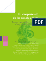 El Crepúsculo de las Simples Cosas - Libro digital colectivo - 2020