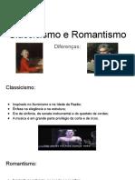 Classicismo e Romantismo....diferença