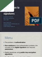 Introduction to digital signatures