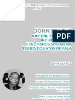 John Searle - Consciência e Linguagem
