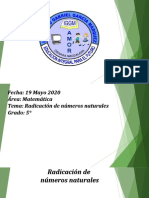 RADICACIÓN DE NÚMEROS NATURALES 5º.ppt