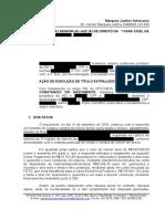 peticao inicial execucao de titulo extrajudicial