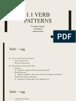 1.1 VERB PATTERNS