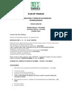 PLAN DE TRABAJO  INTRODUCCIÓN NEGOCIOS INTERNACIONALES (1)