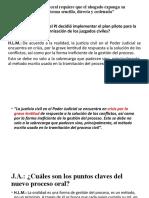 La litigación oral Civil Peru
