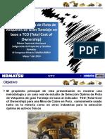 Selección Óptima de Flota de Volquetes de Gran Tonelaje en base a TCO (Total Cost of Ownership)_Néstor Espinoza_Komatsu Final V1