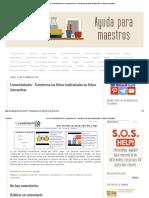 AYUDA PARA MAESTROS_ Liveworksheets - Transforma las fichas tradicionales en fichas interactivas
