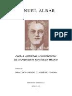 Albar, Manuel.-escritos, Conferencias, Discursos.