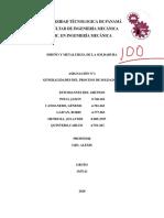 GENERALIDADES DEL PROCESO DE SOLDADURA- GRUPO 3