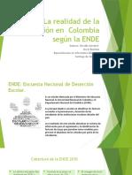 La realidad de la deserción en  Colombia