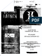 Launch Vehicle No. 4 Flight Evaluation