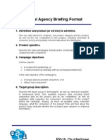 General Agency Briefing Format