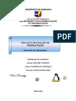 TRAVAUX PRATIQUES DE  TELEMATIQUE TELEMATIQUE