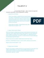 Taller teorica indicadores de utilidad y endeudamiento