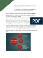 Investigación concepto y características de la iniciación deportiva