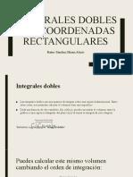 Integrales dobles con coordenadas rectangulares