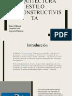 ARQUITECTURA ESTILO DESCONSTRUCTIVISTA