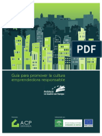 Guia para promover la cultura emprendedora responsable ACP GRANADA