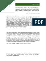 4 OS PARÂMETROS CURRICULARES NACIONAIS DE LÍNGUA PORTUGUESA E A BASE NACIONAL COMUM CURRICULAR