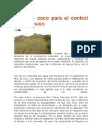 Fibra de coco para el control de la erosión