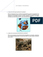 ACTIVIDAD N  1 Incidencia de la actividad humana en los ecosistemas