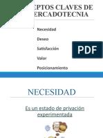 CONCEPTOS CLAVES DE LA MERCADOTECNIA