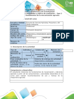 Guía de actividades y rúbrica de evaluación - Fase 2 - Conocer los fundamentos de la mecanización agrícola