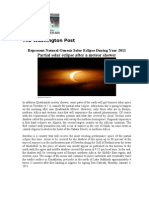 Represent Natural Genesis Solar Eclipse During Year 2011