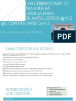 EVALUACIÓN EN CONDICIONES DE CAMPO DE UNA PRUEBA SEROLÓGICA RÁPIDA PARA DETECCIÓN DE ANTICUERPOS IgM E IgG CONTRA SARS-CoV-2 - Josue Casquero
