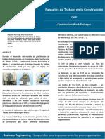 PAQUETES DE TRABAJO EN LA CONSTRUCCIÓN