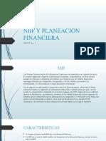 NIIF Y PLANEACION FINANCIERA