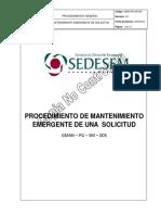 PROCEDIMIENTO MANTENIMIENTO EMERGENTE DE SOLICITUD