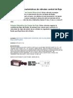 Funciones y características de válvulas control de flujo