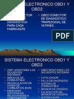 SISTEMA ELECTRONICO OBD1 Y OBD2