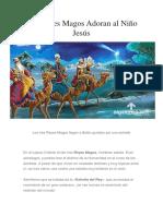 Los Reyes Magos Adoran al Niño Jesús