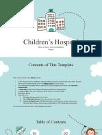 Children's Hospital by Slidesgo