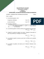 Qcm Audit Controle de Gestion