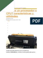 Caracteristicas de un procesador