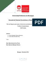 Plan de negocio Tortilleria Semi industrial 2018