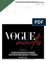 Vogue Minutes_ En el primer panel platicamos sobre sustentabilidad y moda _ Vogue México y Latinoamérica