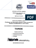 IBAM - PROFESSOR DE EDUCAÇÃO INFANTIL E ANOS INICIAIS - VASSOURAS RJ - MÉDIO - PROVA E GABARITO - 2019.pdf