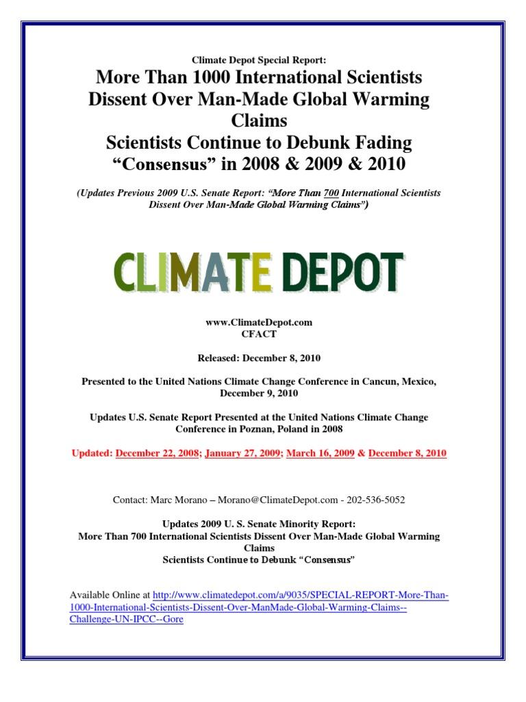 2010 senate minority report intergovernmental panel on climate 2010 senate minority report intergovernmental panel on climate change global warming fandeluxe Gallery