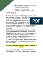 COMO ESTAR FIRMADO NO SENHOR EM TEMPOS DE PROVA - SERMÃO PELA MANHÃ 17.05.2020
