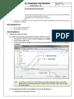 Lab02 - Fundamentos de Macros en Excel